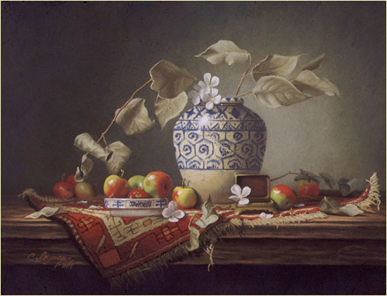 Persian Vase with Lady Apples
