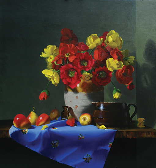 Poppies, Pears and Pottery